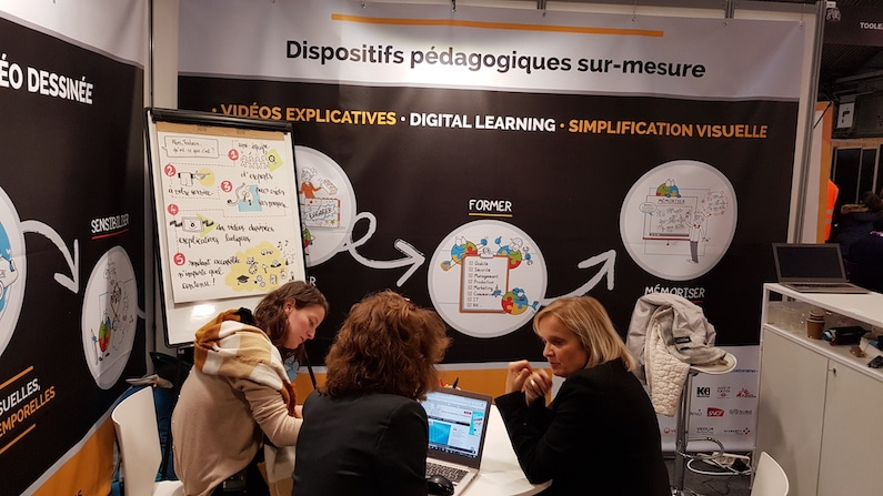 Digital learning et dessin : retour de Learning Technologies