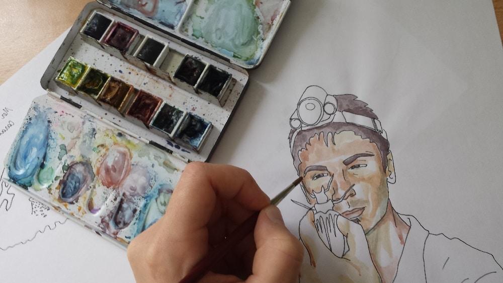 Vidéo aquarelle sur mesure peinture