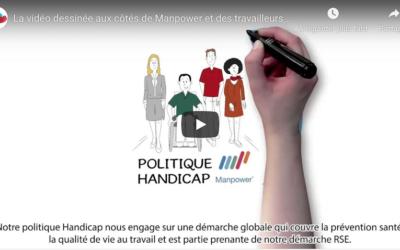La vidéo dessinée aux côtés de Manpower et des travailleurs handicapés