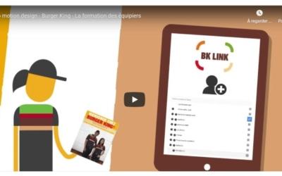 La vidéo explicative motion design pour uniformiser le parcours de formation chez Burger King
